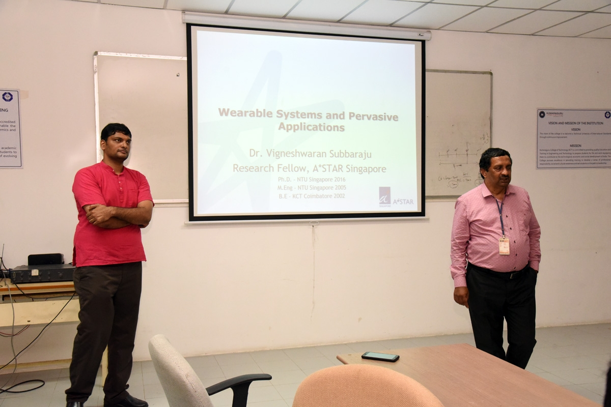 LECTURE on WEARABLE SYSTEMS AND PERVASIVE  APPLICATIONS
