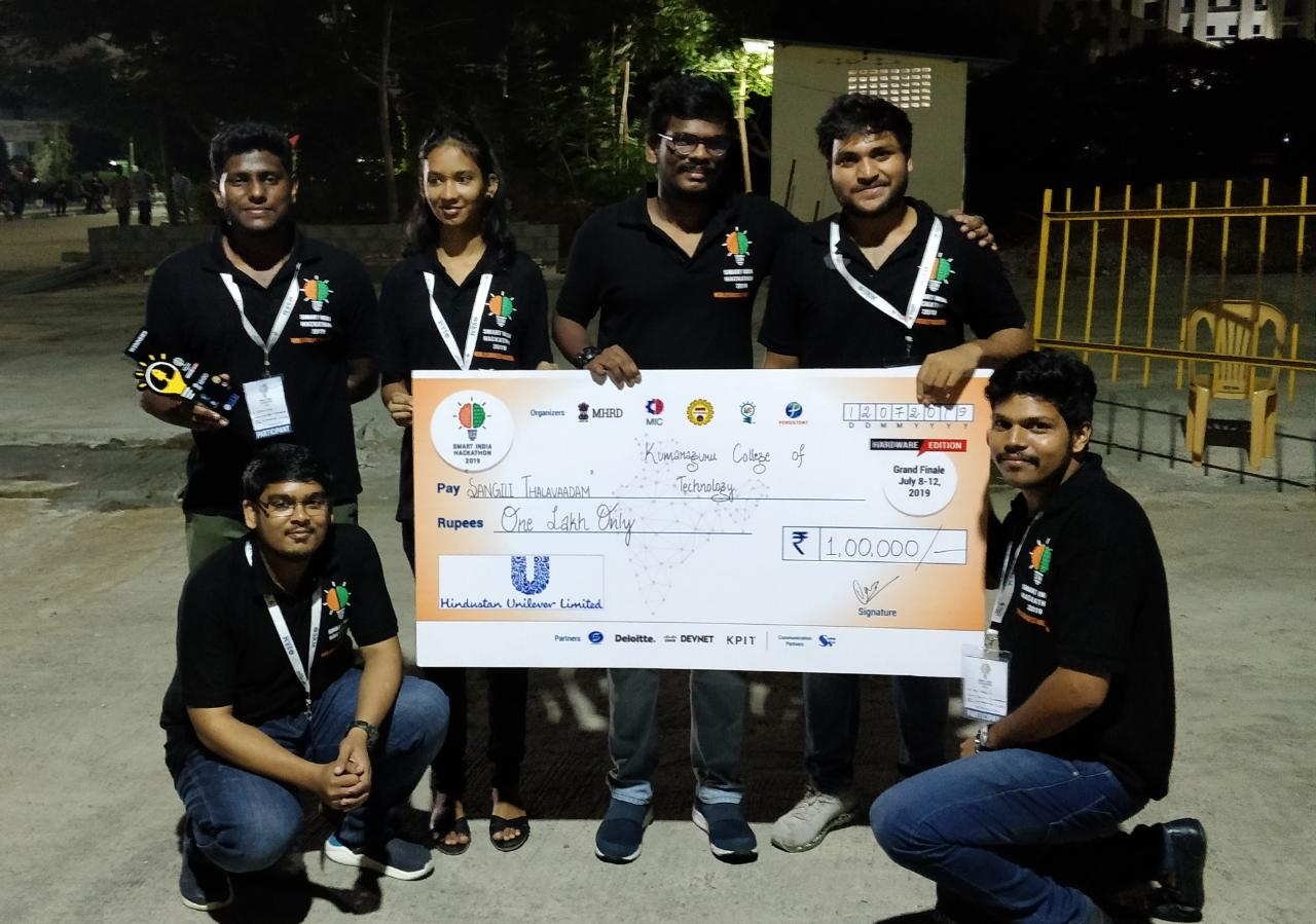 Winners at Smart India Hackathon 2019