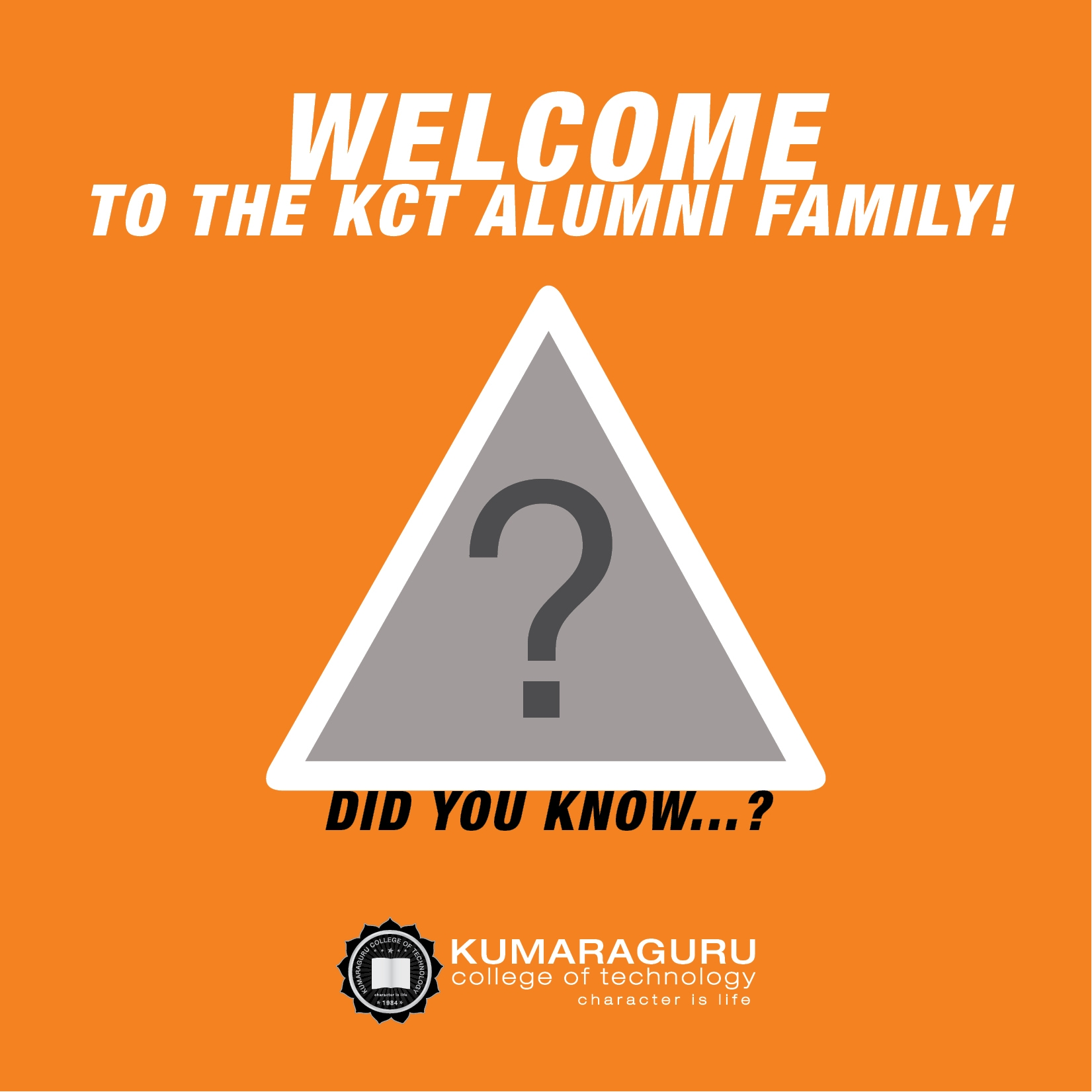 Call to be part of organizing committee of KCT Alumni association