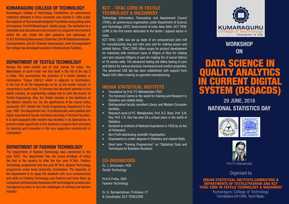 Workshop on Data science in Quality Analytics in current digital system