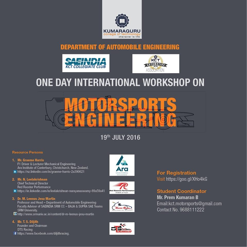 International Workshop on Motorsports Engineering