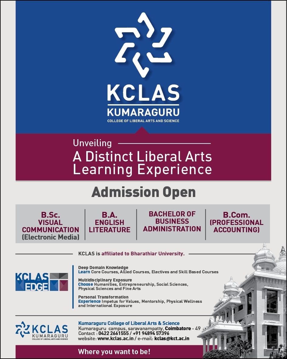 Admissions Open for KCLAS!